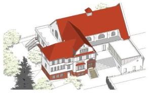 Zeichnung Altes hallenbad