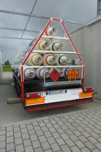 Trailer mit Wasserstoff in Mainz