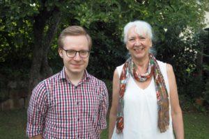 Wechsel bei den Grünen Bad Nauheim: Oliver Westphal und Brigitta Nell-Düvel. (Bild: pv)