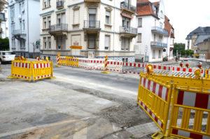 Obwohl im Ernst-Ludwig-Ring schon gebaut wird, wird die Stadt keine Straßenbeiträge erheben. Denn sie werden abgeschafft (Bild: Petra Ihm-Fahle)