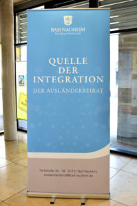 """Der Ausländerbeirat Bad Nauheim firmiert mit dem Logo """"Quelle der Integration"""". (Bild: Petra Ihm-Fahle)"""