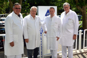Chefärzte der Kurpark-Klinik: Prof. Dr. Diethard Usinger, Dr. Wolf-Dieter Patyna, Dr. Dominik Georg Haider und Dr. Winfried Vahlensieck. (Foto: Petra Ihm-Fahle)
