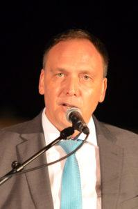 Bürgermeister Klaus Kreß bei der Quellendankfeier (Foto: Petra Ihm-Fahle)