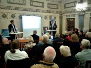 Dr. Martin Worms spricht über die Zukunft vom Sprudelhof. (Bild: pv)