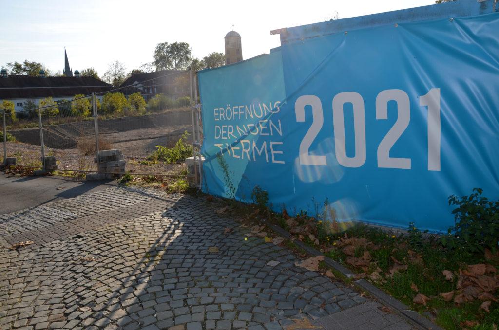 Der Eröffnungstermin der neuen Therme verschiebt sich auf 2022. (Bild: Petra Ihm-Fahle)